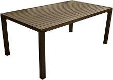 Table Milano Brush en aluminium brun - Proloisirs