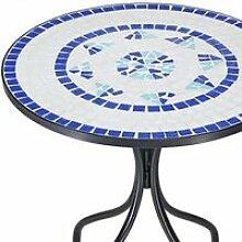 Table mosaique bleu - 70x60cm - Jardin - bacon