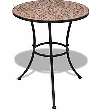 Table mosaique en terre cuite 60 cm