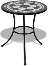 Table mosaïque noire / blanche Noir