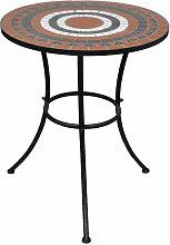 Table mosaique terre cuite / blanc