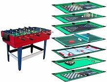 Table Multi-Jeux 12 en 1 avec plateaux de jeux