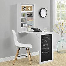 Table Murale Pliable Bureau Mural Rabattable MDF