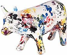 TABLE PASSION - Tirelire Vache granito h18 cm