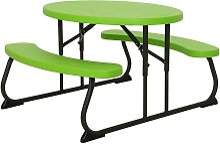 Table Picnic Ovale Enfant - Vert Citron
