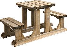 Table pique-nique 2 places en pin traité