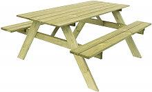 Table pique-nique en bois pour 6 personnes