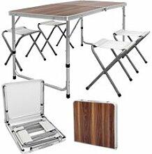 Table pliable camping réglable 4xtabouret jardin