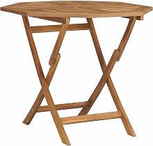 Table pliable de jardin 85x85x76 cm Bois de teck