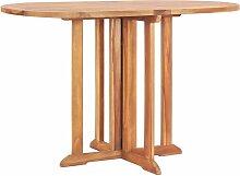 Table pliable de jardin papillon 120x70x75 cm Bois