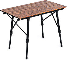 Table pliable en alliage d'aluminium Bureau de
