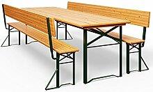Table Pliable et 2X bancs avec Dossier - Salon de