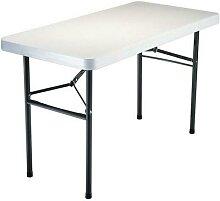 table pliante 122x60m hdpe