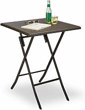 Table pliante de jardin carrée Camping pliable