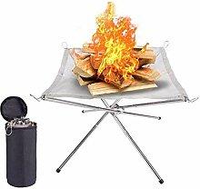 Table pliante de pompier - Barbecue au charbon de