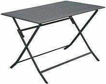 Table pliante en aluminium Lorita 110 cm Gris -