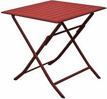 Table pliante en aluminium Lorita 70cm Rouge -