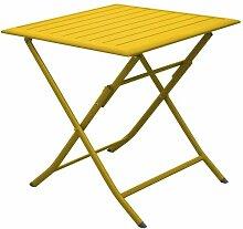 Table pliante en aluminium Lorita 70cm Tournesol -