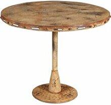 Table pliante en finition crème antique en fer