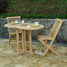 Table pliante ovale en teck Ecograde Manoï 120 x