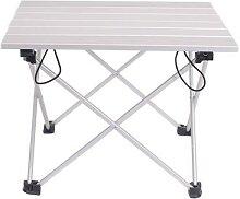 Table pliante Portable en alliage d'aluminium