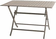 Table pliante rectangulaire en aluminium coloris