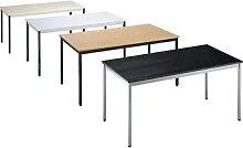 Table polyvalente rectangulaire, l x h 1400 x 740
