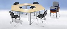 Table polyvalente trapézoïdal, h x l x p 740 x