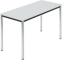 Table rectangulaire en tube rond chromé l x p
