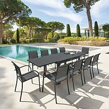 Table rectangulaire extensible Piazza 10 personnes