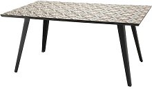 Table rectangulaire L162 plateaux carreaux pieds