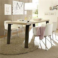 Table rectangulaire moderne couleur bois clair JACE