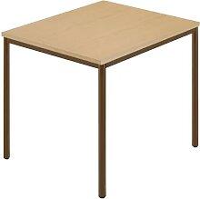 Table rectangulaire, tube rond plastifié l x p