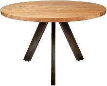 Table repas ronde en bois L120