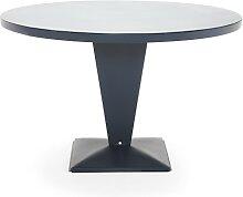 Table RONDE KUB de Tolix, Bleu nuit, 110 cm