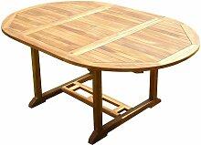 Table ronde / ovale en teck aspect huilé SENTAK