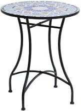 Table ronde pliable style fer forgé bistrot