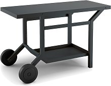 Table Roulante Acier Noir Et Gris Anthracite