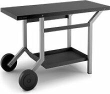 Table roulante en acier pour plancha forge adour -