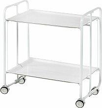 Table roulante pliante BAUHAUS châssis blanc, 2