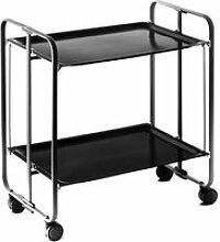 Table roulante pliante noire et châssis noir - 3