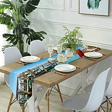 Table Runner Modern Art,Beautiful View from The