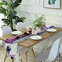 Table Runner Modern Art,Bichon Frise Pizza,Dinner