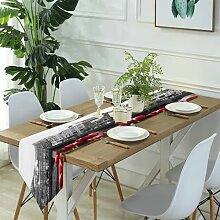 Table Runner Modern Art,Black and White