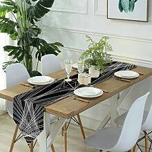 Table Runner Modern Art,Black Oriental Shorthair