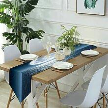 Table Runner Modern Art,Blue Life Light with