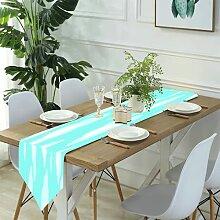 Table Runner Modern Art,Blue Sky Vintage Love