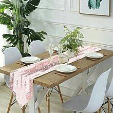 Table Runner Modern Art,Love in Paris On Pink