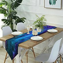 Table Runner Modern Art,Palm leaves water pool and