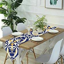 Table Runner Modern Art,Racchetta Colorata e Palla